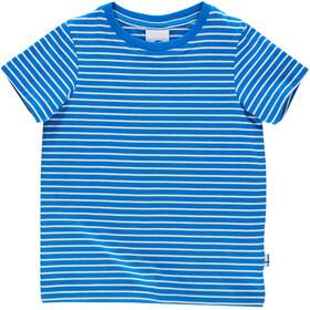 Finkid Supi Koszula z krótkim rękawem Dzieci, blue/offwhite